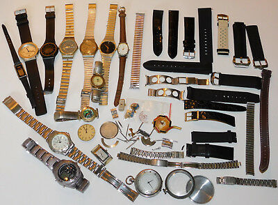 LOT pièce DIVERS MECANISME parts vintage Watch alt UHR ancien MONTRE BRACELET