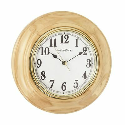 London Clock Co 22cm leichtes Holz Traditionell Wand/Tischuhr