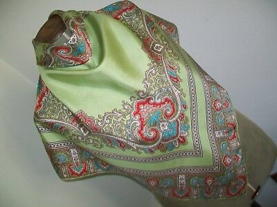 Thirkell Of Old Bond St. A Gorgeous 1950's Classic Paisley Vintage Silk Scarf