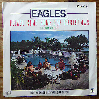 """Eagles, Please come home for Christmas, Funky new year, Vinyl, Single, 7"""""""
