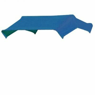 """SNOWCO 3-Bow Tractor Canopy Replacement Cover 48"""" 10 oz. Duck Canvas - Blue"""