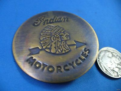 Indian Motorcycles Solid Brass w//Antique Finish OLD WESTERN BADGE PIN 167