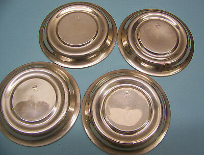 Vintage Sterling Silver - lot of 4 - Coasters or Candy Nut Dishes - 81.62 GRAMS