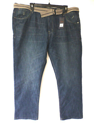 dc10a992 PD&C Mens Size 44X32 Arthur Distressed Dirty Wash Straight Fit Blue Jeans  New