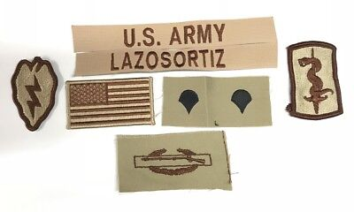 9 US ARMY patch Set DCU Desert Uniform Konvolut 4th ID AIRBORNE 2nd ACR Lt LAURY Airsoft Funsport