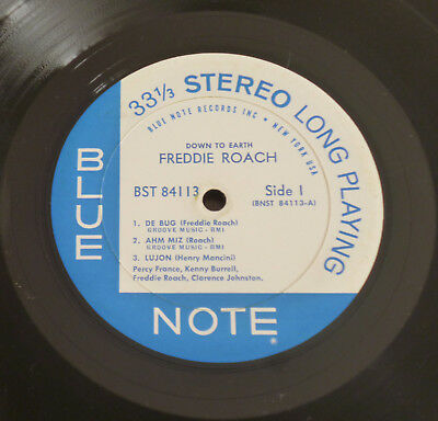 Feddie Roach - Down To Earth (1962) LP (VG)  HOLY Rare Blue Note Stereo 1st NY
