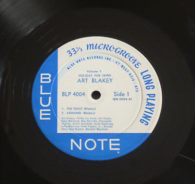Art Blakey - Holiday For Skins (1958) LP (VG-) ULTRA Rare Blue Note 1st NYC Ear