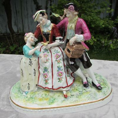 LARGE ANTIQUE 19thC PARIS FRENCH PORCELAIN FIGURE GROUP - VINCENT DUBOIS MARK