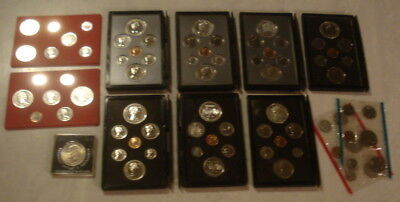 9 Canadian Silver Coin Sets/ And Other Coins