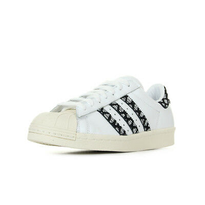 CHAUSSURES BASKETS ADIDAS femme Superstar 80S taille Blanc Blanche Cuir Lacets