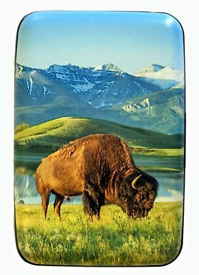 North American Bison RFID Secure Theft Protection Credit Card Armored Wallet
