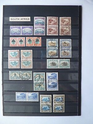 SOUTH AFRICA :- 1926 - 1939 : Mint & Used Bi-lingual Pairs.