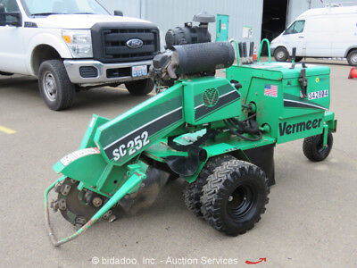 2011 Vermeer SC252 Self Propelled Wood Stump Grinder Cutter Kohler 27HP bidadoo