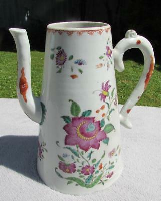 Fine Antique Chinese 18thC Qianlong Coffee Pot Famille Rose - Large Size