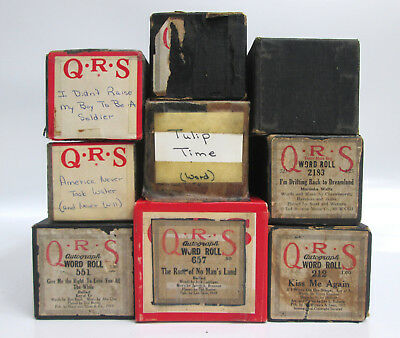 Lot of 9 QRS Paramount International US the Countrys Best Piano Word Rolls