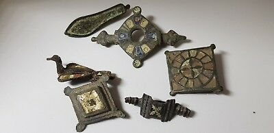 Lot of Roman Fibula with Enamel   1st ,4th Century  AD