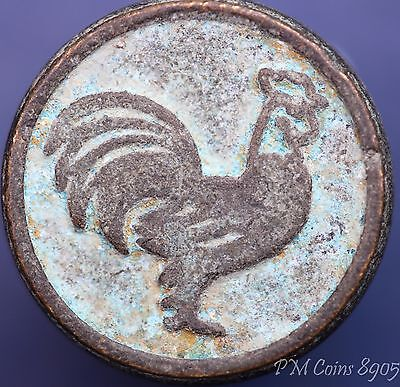 Chinese bronze seal with animal of the zodiac -  rooster 16mm *[8905]