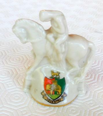 Rare Vintage Goss Lady Godiva Model Matching Coventry Crest