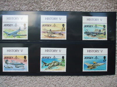 GB JERSEY 1993 75th Anniversary Of The Royal Air Force Mint Set With Borders