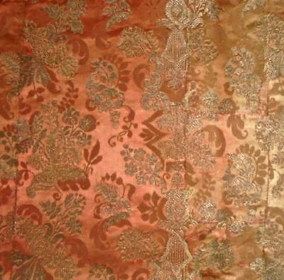 EXQUISITE RARE 17th/18th CENTURY SILK GOLD SILVER BROCADED DAMASK ITALIAN FRENCH