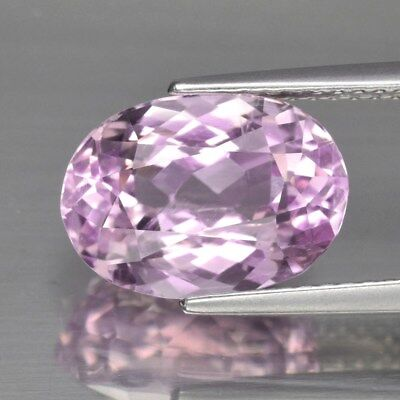 VS 4.93ct 11.7x8.3mm Oval Natural Untreated Pink Kunzite, Afghanistan