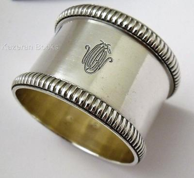 Heavy Antique French Solid Silver Hallmarked Napkin Ring