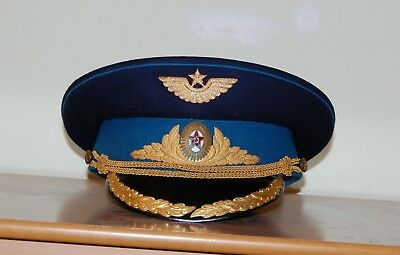 Air Force Cap Combat Pilot Hat Russian Soviet Red Army Military Uniform USSR S58