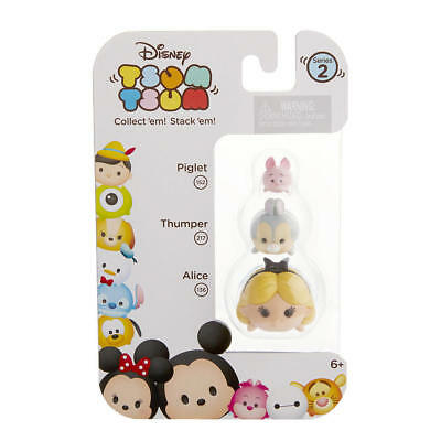 DISNEY 3pc Set TSUM TSUM Figures PIGLET 152+THUMPER 217+ALICE 136 Series 2 NEW!