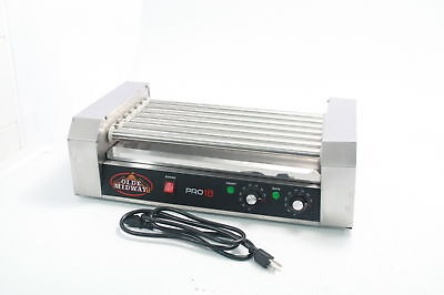 Olde Midway Electric 30 Hot Dog 11 Roller Grill Cooker Machine 1200-Watt Cover