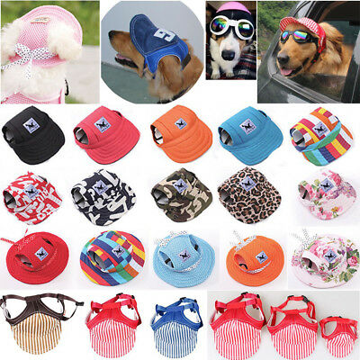 Pet Dog Hat Baseball Cap Windproof Travel Sports Sun Hats for Puppy LargeDog Lot