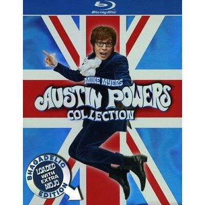 Austin Powers Collection Blu-ray Region B 3 Discs Shagadelic Edition Mike Myers