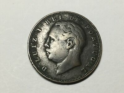 PORTUGAL 1884 10 Reis coin nice condition