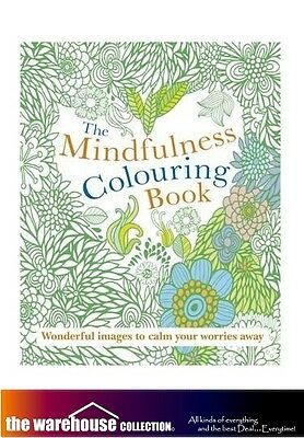 Mindfulness Adult Coloring Colouring Book 128 A4 Pages Anti Stress Books New