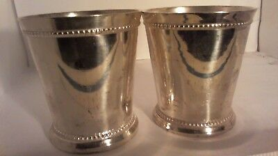 TWO SILVER CUPS INDIA SILVER 302grams total weight for both cups