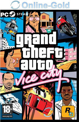 Grand Theft Auto: Vice City GTA - PC STEAM Spiel Download Game USK AB 18 - DE