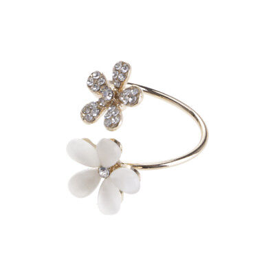 Charm Retro Opal Auger Flower Ring Vintage Opening Adjustable Alloy Lady Jewelry