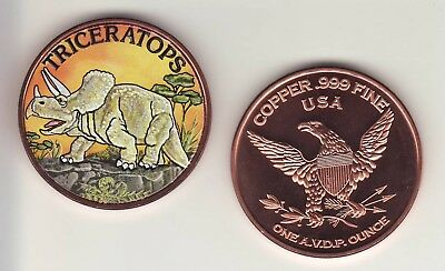 20 Ounces Of Copper DINOSAUR APATOSAURUS 1 oz Bullion Rounds