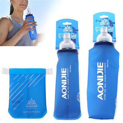 250ml-500ml Foldable Flask TPU Squeeze Running Water Bottle Outdoor Sports Soft
