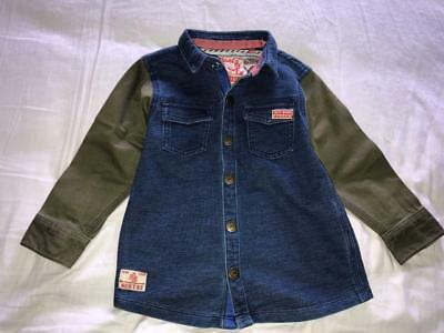 NEXT Boys Cute Jacket Style Shirt  1.5-2 Years - GREAT POSTAGE OFFER