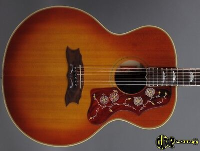 1973 Gibson J-200 Artist Flattop - Cherry Sunburst - Spruce Top Maple  Back