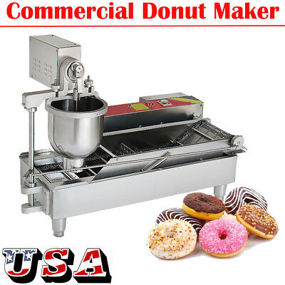 【USA】Commercial Electric Automatic Doughnut Making Machine Donut Maker W/3 Molds