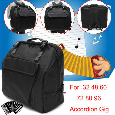 Padded Accordion Gig Bag Carry Case for 32/48/60/72/80/96 Bass Piano Backpack