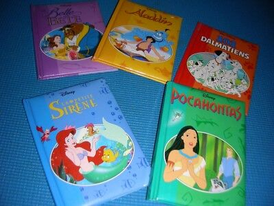 5 Disney classic tales in french~POCAHONTAS, DALMATIENS, ALADDIN..~free shipping