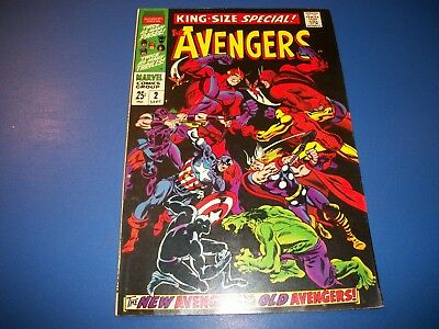 Avengers Annual #2 Silver Age FVF/VF- Beauty Wow Old vs New Black Panther