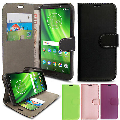 For Motorola Moto G6 Play - Luxury Leather Wallet Flip Case Cover Card Stand