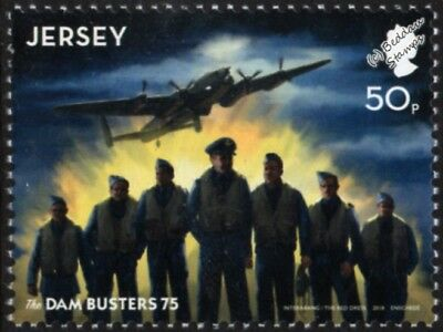 WWII Dambusters Raid/RAF AVRO LANCASTER Aircraft and Crew Stamp (2018 Jersey)