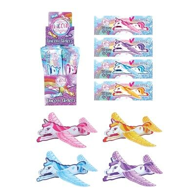 Children Kids Pretty Girls Pink Flying Unicorn Gliders Planes Party Bag Filler