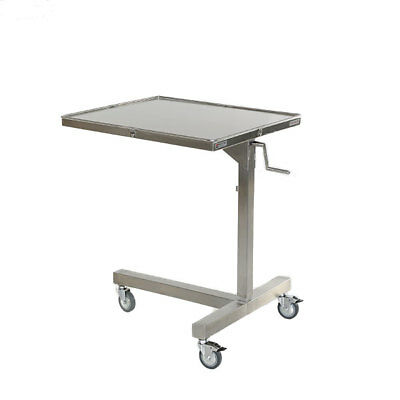 """New MCM-770 Stainless Steel Adjustable Height Ventric Stand 30"""" x 26"""" Top Size"""