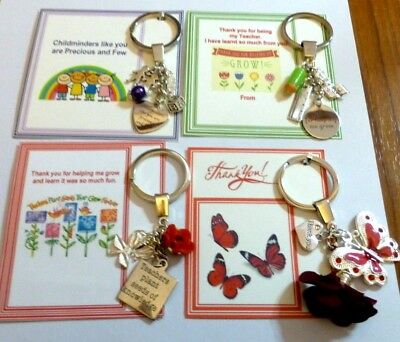 Thank you gifts Teacher End of Term General Key Ring Gift Card/Design choice