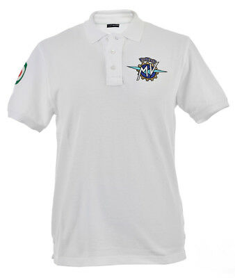 "Original MV Agusta Poloshirt Polo Shirt ""Institutional"" weiß Shirt kurzarm"